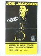 JOE JACKSON Ticket De Concert Du Samedi 21 Avril Au Palais Des Sports De Lyon - Tickets D'entrée