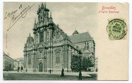 BELGIQUE- Carte Postale De 1908 De BRUXELLES Avec Timbre Y&T N°56 - Monuments, édifices