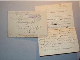 AUSTRIA 1915 STORIA POSTALE LETTERINA ANNULLO POSTALE FESTUNGSSPITAL NR. 1 POLA OSPEDALE MARINE FELDPOST - Vecchi Documenti