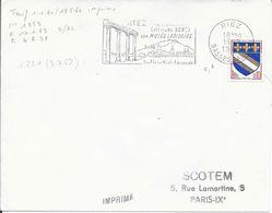BASSES ALPES 04  - RIEZ    - FLAMME N° RIC 1221 - DESCRIPTION  -  1963 - TIMBRE N° 1353 TARIF DU 1 1 60 - Postmark Collection (Covers)