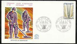 CREATION DU SERVICE DE DEMINAGE . 11 OCTOBRE 1975 . LEPUIX . - 1970-1979