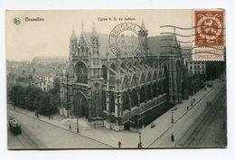 BELGIQUE- Carte Postale De 1914 De BRUXELLES (Eglise N.D Du Sablon) Avec Timbre Y&T N°109 - Monumenti, Edifici