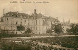 Dép 51 - Reims - Maison De Retraite - Vue Intérieure , Côté Jardin - 2 Scans - état - Reims