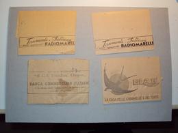 ITALIA 4 TELEGRAMMI PUBBLICITARI VARI PERIODO REGNO - Vecchi Documenti