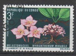 CONGO N° 270 O Y&T 1970 Faunes Et Flores (Myrianthemum Murabile) - Congo - Brazzaville