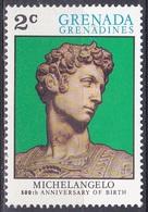 Grenada Grenadinen Grenadines 1975 Kunst Arts Kultur Culture Michelangelo Bildhauer Maler Medici, Mi. 73 ** - Grenada (1974-...)