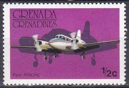 Grenada Grenadinen Grenadines 1976 Transport Verkehr Luftfahrt Aeronautic Flugzeuge Aeroplanes Piper Apache, Mi. 186 ** - Grenada (1974-...)