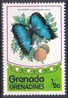 Grenada Grenadinen Grenadines 1975 Tiere Fauna Animals Schmetterlinge Butterflies Insekten Insects Morpho, Mi. 79 ** - Grenada (1974-...)