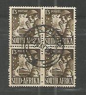 Union Of South Africa - War Efforts 1/3 Sh. Signalgast 4erBl. Vryheid 21.05.1945 - África Del Sur (...-1961)