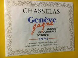 8093 - Chasselas Genève Gagne Le Mois Du Commerce Octobre 1993  Genève Suisse - Etiquettes