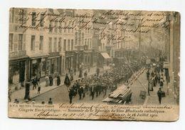 BELGIQUE- Carte Postale De 1902 (Congrés Eucharistique) Avec Timbre Y&T N°56 - Belgique