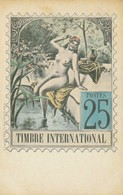 TIMBRE INTERNATIONAL - MAQUETTE  REFUSEE - Timbres (représentations)