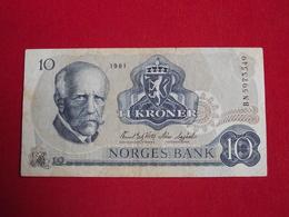 Norvège - Norway 10 Kroner 1979 / 1981 Pick 36c - Ttb / Vf ! (CLVG230) - Norvège