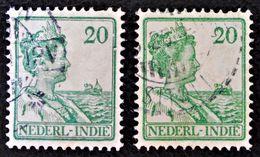 WILHELMINE 1913/14 - OBLITERES - YT 111 - VARIETES DE TEINTES ET D'OBLITERATIONS - Niederländisch-Indien