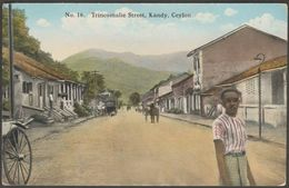 Trincomalie Street, Kandy, Ceylon, C.1920 - Coop Ltd Postcard - Sri Lanka (Ceylon)