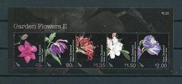 2004 New Zealand Complete M/Sheet Garden Flowers Used/gebruikt/oblitere - Blokken & Velletjes