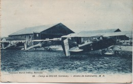 CAMP DE SOUGE  AVIONS  EN MANOEUVRE - Aeródromos