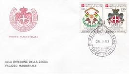 SOVRANO MILITARE ORDINE DI MALTA  FDC CONVENZIONE POSTALE CON TOGO POSTA AEREA 1983 - Malte (Ordre De)