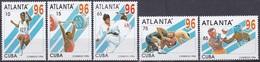 Kuba Cuba 1996 Sport Spiele Olympia Olympics Atlanta Boxen Judo Weitsprung Ringen Gewichtheben, Mi. 3899-3 ** - Kuba
