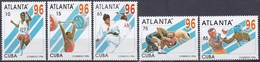 Kuba Cuba 1996 Sport Spiele Olympia Olympics Atlanta Boxen Judo Weitsprung Ringen Gewichtheben, Mi. 3899-3 ** - Ungebraucht