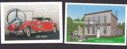 Tanzania, Scott #1103-1104, Mint Never Hinged, Cars, Issued 1994 - Tanzania (1964-...)