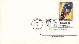 USA FDC 3-8-1996 OLYMPIC GAMES CYCLING Salute To Australia Sydney 2000 - Summer 1996: Atlanta