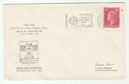 1954 LUXEMBOURG NATO EVENT COVER Slogan Stamps Peace - Luxembourg