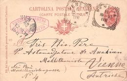 ITALY - CARTE POSTALE 1897 VENEZIA -> WIEN/AUTRICHE - 1878-00 Umberto I