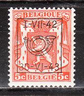 PRE485**  Petit Sceau De L'Etat - Année 1942 - Bonne Valeur - MNH** - LOOK!!!! - Préoblitérés