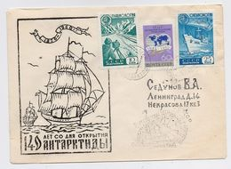 ANTARCTIC Mirny Station 6 SAE Base Pole Mail Cover USSR RUSSIA Ship Glaciology - Research Stations