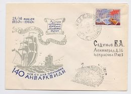 ANTARCTIC Vostok Mirny Station 5 SAE Base Pole Mail Cover USSR RUSSIA Week Letter - Research Stations