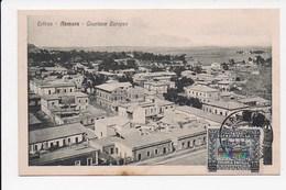 CPA ERYTHREE ASMARA Quartiere Europeo - Erythrée