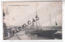 17 Tonnay - Charente - Port De Commerce - Animé Marins Posant Pour La Photo - Bateau à Vapeur Voilier à Quai - CPA 191 - Francia