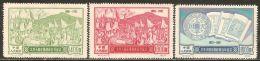 China P.R. 1951 Mi# 129-130, 132 II (*) Mint No Gum, Hinged - Reprints - Short Set - Cent. Of Taiping Peasant Rebell - Réimpressions Officielles