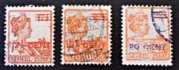 SURCHARGES 1921 -OBLITERES - MI 132/34 - Niederländisch-Indien