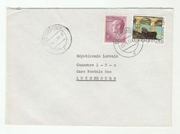 1976 LUXEMBOURG  COVER Stamps EUROPA BRIDGE ART BOAT - Luxembourg