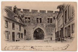 Cpa Pionnière 02 Coucy-le-Château (Aisne) La Porte De Laon Côté Intérieur - (Circulée France-Allemagne 1902) - Autres Communes