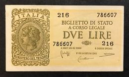 2 Lire Italia Laureata 1944 Bolaffi Sup Lotto 460 - [ 1] …-1946 : Royaume