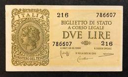 2 Lire Italia Laureata 1944 Bolaffi Sup Lotto 460 - [ 1] …-1946 : Koninkrijk