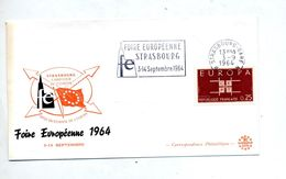 Lettre Flamme Strasbourg  Foire 1964 - Mechanische Stempels (reclame)
