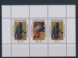 Suriname 1971 M/S Child Welfare Details From Brueghel's Children's Games Voor Het Kind Pieter Bruegel Stamps MNH - Childhood & Youth