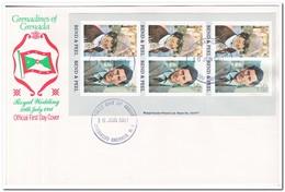 Grenada-Grenadines 1981, FDC, Wedding Of Prince Charles To Lady Diana Spencer ( From Booklet ) - Grenada (1974-...)