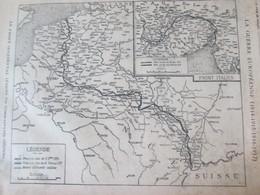 1917 Guerre 14-18  Semaine Militaire  8 15 Février 1917 Carte Du Front  14 Février  Region De PARROY - Advertising
