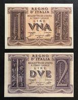 1+2 LIRE IMPERO 1939 FDS Lotto 462 - [ 1] …-1946 : Kingdom