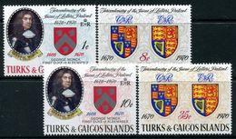 Turks & Caicos Islands 1970 Tercentenary Of Issue Of Letters Patent Set MNH (SG 329-32) - Turks- En Caicoseilanden