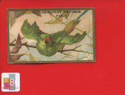 Chocolat DEVINCK PARIS Jolie Chromo Calendrier 1888 Perruche - Calendars
