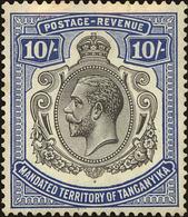 Tanganyika Scott #43, 1927, Hinged - Kenya, Uganda & Tanganyika