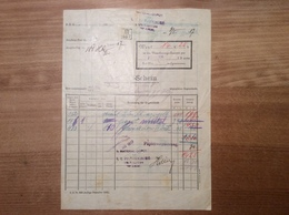 Österreich 1907 Postformular Bestellung Post Depot Wien > Langenegg Vorarlberg  (BRIEF - 1850-1918 Imperium