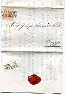 "Lettre De Belluno à Fonzaso 1855 - Timbre De 15 C Rosso - Circolare  Destituat El ""Essattore"" - Lombardo-Vénétie"
