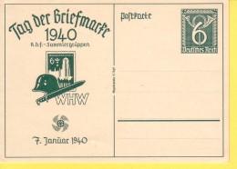 GERMANIA  REICH  - TAG DER BRIEFMARKE - 7/01/1940  -  NON  VIAGGIATA - Allemagne